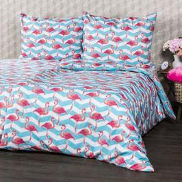 4Home Bavlněné povlečení Flamingo, 220 x 200 cm, 2 ks 70 x 90 cm, 220 x 200 cm, 2 ks 70 x 90 cm