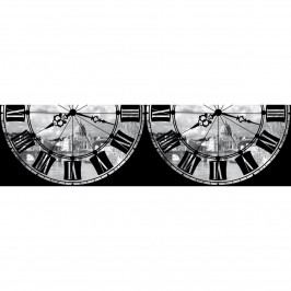 AG Art Samolepicí bordura Římské hodiny, 500 x 14 cm