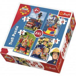Puzzle Trefl 34269 Požárník Sam 4v1 35 48 54 70 dílků