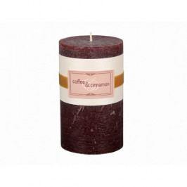 Dekorativní svíčka Elegance káva a skořice, 12 cm