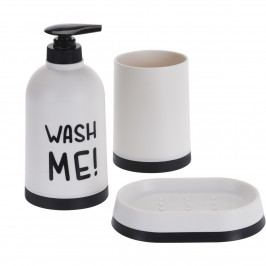 Koupelnový set Wash Me bílá, 3 ks