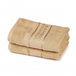 4Home Bamboo Premium ručník béžová, 50 x 100 cm, sada 2 ks