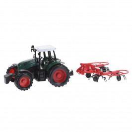 Traktor s přívěsem červená, 40 cm