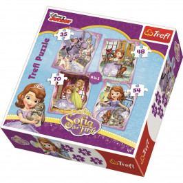 Puzzle Trefl 4v1 Princezna Sofie První 35 70 dílků