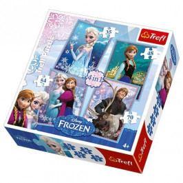 Trefl 4v1 Ledové království/Disney 35 48 54 70 dílků