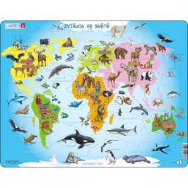 Larsen Puzzle Zvířata ve světě, 28 dílků