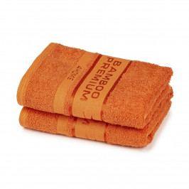 4Home Bamboo Premium ručník tmavě lososová, 50 x 100 cm, sada 2 ks