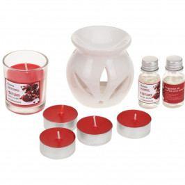 Sada svíček a aromalampy Odeur Pomegranate, 9 ks