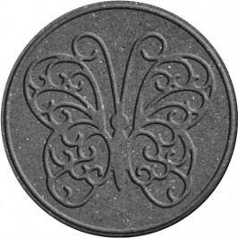 Benco Gumový nášlap na zahradu Motýl, šedá