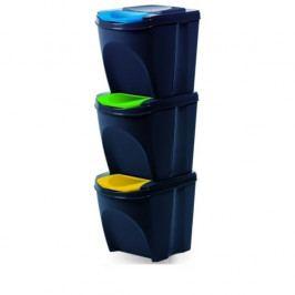 Koš na tříděný odpad Sortibox 25 l, 3 ks, antracit IKWB20S3 – S433