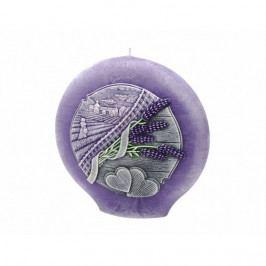 Dekorativní kulatá svíčka Lavender Kiss