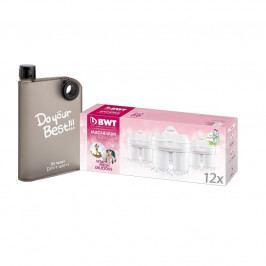 BWT Náhradní filtry 12 ks s dárkem - designová láhev Maxxo A5