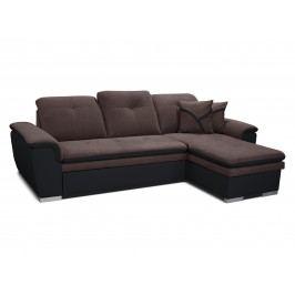 Rohová sedací souprava - Po-Sed - Estevan 2F+L (tmavě hnědá + hnědá) (P)