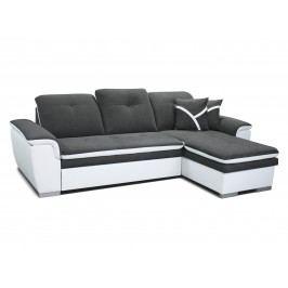 Rohová sedací souprava - Po-Sed - Estevan 2F+L (tmavě šedá + bílá) (P)
