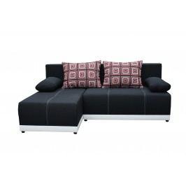 Rohová sedací souprava - Po-Sed - Picollo (černá + bílá) (L)