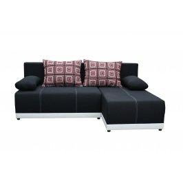 Rohová sedací souprava - Po-Sed - Picollo (černá + bílá) (P)