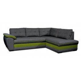 Rohová sedací souprava - Po-Sed - Aruba 2F+L (tmavě šedá + zelená) (P)