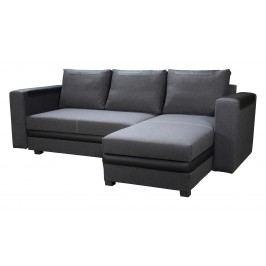 Rohová sedací souprava - Po-Sed - Bono (tmavě šedá + černá) (P)