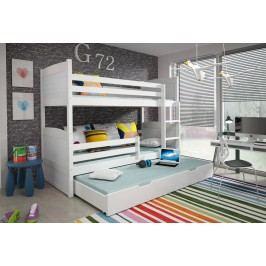 Patrová postel 80 cm - Famm - Rico 3 (s rošty a matracemi)