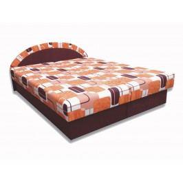 Manželská postel 160 cm - Famm - Elena (hnedá) (s matrací)