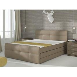 Manželská postel Boxspring 160 cm - Renar - Palermo (s matrací a úl. prostorem)
