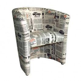 Křeslo - Cuba vzor noviny