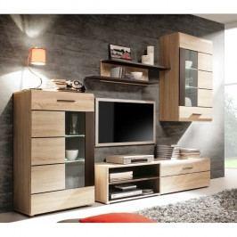 Obývací stěna - Presli Kombino - SOUM011B (s osvětlením)