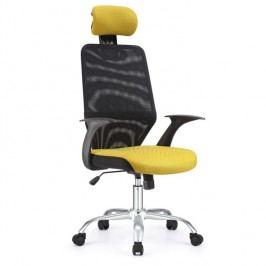 Kancelářské křeslo - Reyes černá + žlutá
