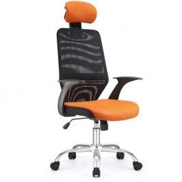 Kancelářské křeslo - Reyes černá + oranžová