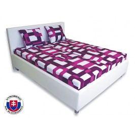 Manželská postel 160 cm - Važo - Leona 1 (s pěnovými matracemi)