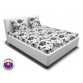 Manželská postel 160 cm - Važo - Leona 3 (s pěnovými matracemi)