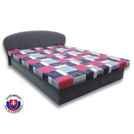 Manželská postel 160 cm - Važo - Milka 1 (s pěnovými matracemi)