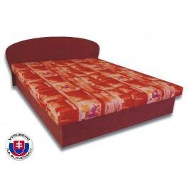 Manželská postel 160 cm - Važo - Milka 4 (s pěnovými matracemi)