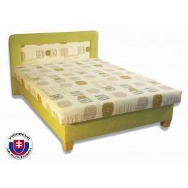 Manželská postel 140 cm - Važo - Perla (s pěnovými matracemi)