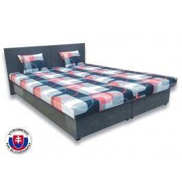 Manželská postel 160 cm - Važo - Silvia (s pěnovými matracemi)