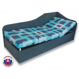 Jednolůžková postel (válenda) 80 cm - Važo - Anita (Gusto 4A + Šedá 81) (P)