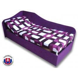 Jednolůžková postel (válenda) 80 cm - Važo - Anita (Gusto 10 + Fialová 49) (L)