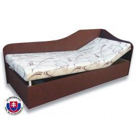 Jednolůžková postel (válenda) 80 cm - Važo - Anita (Sand 10 + Tmavě hnědá 40) (P)