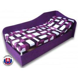 Jednolůžková postel (válenda) 90 cm - Važo - Anita (Gusto 10 + Fialová 49) (P)