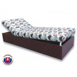 Jednolůžková postel (válenda) 80 cm - Važo - Darina (Tmavohnědá 40 + Kevin 13)
