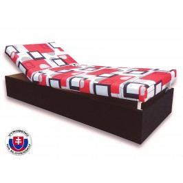 Jednolůžková postel (válenda) 80 cm - Važo - Darina (Černá 39 + Otawa 1)