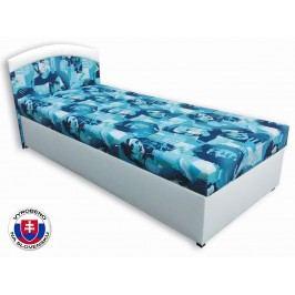 Jednolůžková postel (válenda) 80 cm - Važo - Elvis (Bílá koženka + Elvis 2)
