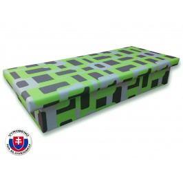 Jednolůžková postel (válenda) 80 cm - Važo - Jana 10 (Gusto 5A zelená)