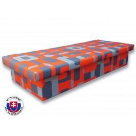 Jednolůžková postel (válenda) 80 cm - Važo - Jana 10 (Gusto 6A oranžová)