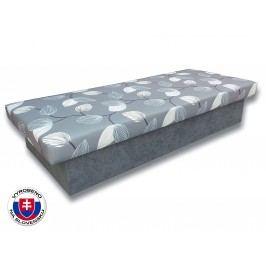 Jednolůžková postel (válenda) 80 cm - Važo - Jana 10 (Šedá 81 + Melody 14)