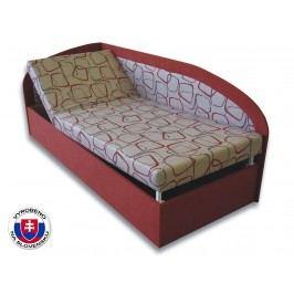 Jednolůžková postel (válenda) 80 cm - Važo - Kamila (Cihlová 41 + Dodo 1008) (L)