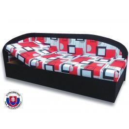 Jednolůžková postel (válenda) 80 cm - Važo - Kamila (Černá 39 + Otawa 1a) (L)