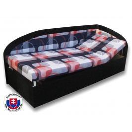 Jednolůžková postel (válenda) 90 cm - Važo - Kamila (Černá 39 + Mimi 21) (P)