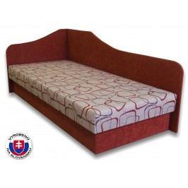 Jednolůžková postel (válenda) 80 cm - Važo - Lux 87 (Cihlová 41 + Dodo 1008) (L)