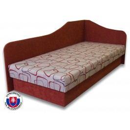Jednolůžková postel (válenda) 80 cm - Važo - Lux 87 (Cihlová 41 + Dodo 1008) (P)